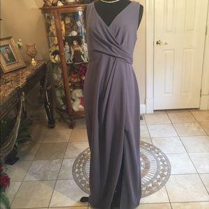 After six NWT gray M Dessy style wedding dress